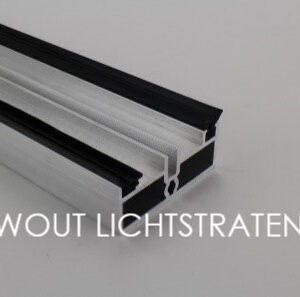 Aluminium onderprofiel 22 mm hoog
